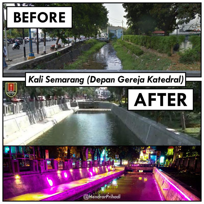 Kali Semarang - Depan Gereja Katedral